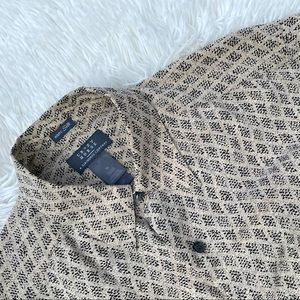 Crazy Horse Geometric Design 100% Silk Shirt M